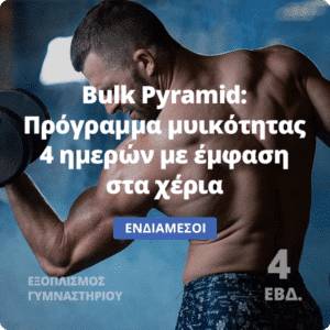 Bulk Pyramid - Πρόγραμμα μυικότητας 4 ημερών με έμφαση στα χέρια