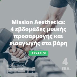 Mission Aesthetics - Πρόγραμμα γυμναστικής για αρχάριους