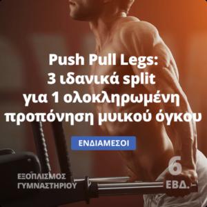 Push Pull Legs - Πρόγραμμα μυικού όγκου