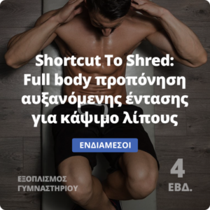 Shortcut to shred - Full body πρόγραμμα γράμμωσης